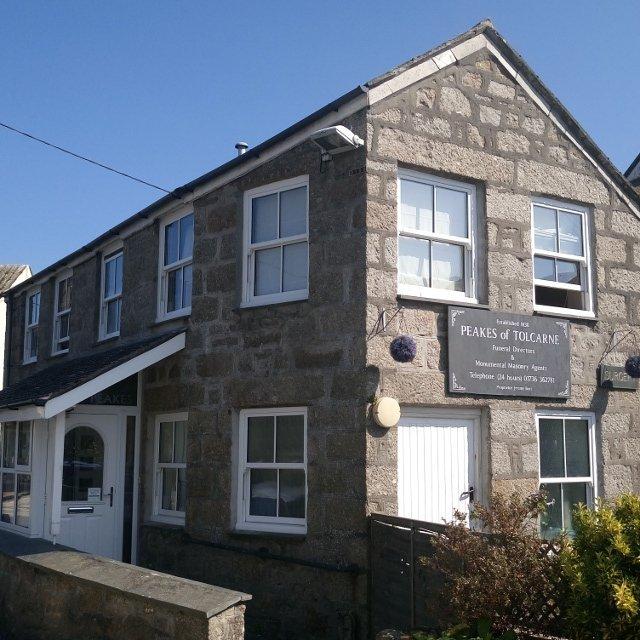 Peakes of Tolcarne Funeral Directors, Newlyn, Penzance.
